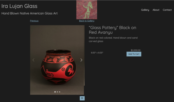 Another Artist Website Example