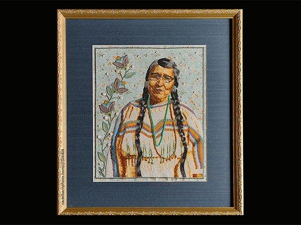 Jackie Larson Bread (Blackfeet), Best of Show and Best of Class Beadwork/Quillwork