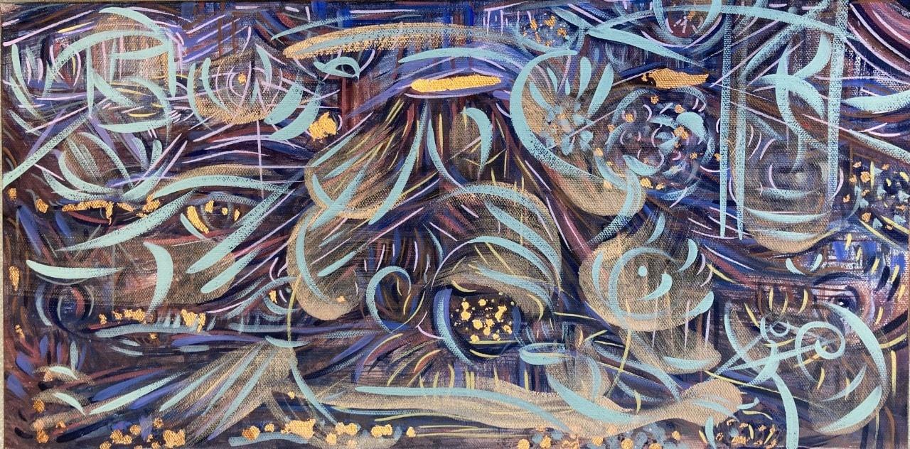 Santiago Romero Painting_Mesa Stary Night